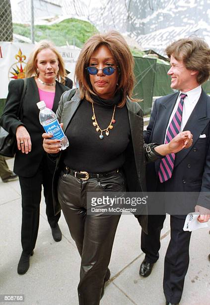 Mary Wilson cofounder of the music group The Supremes leaves a legislative hearing April 25 2001 at the Statehouse in Boston MA Wilson was in Boston...