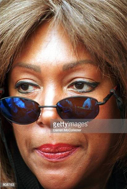 Mary Wilson cofounder of the music group The Supremes listens to a reporter's question April 25 2001 following a legislative hearing at the...