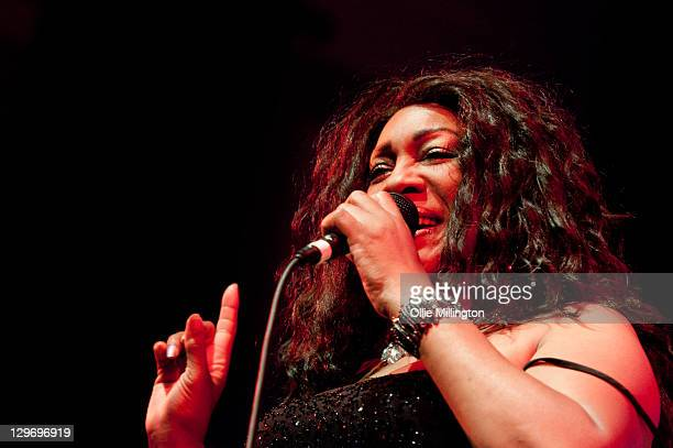Mary Wilson of The Original Supremes performs onstage with Bill Wyman's Rhythm Kings at De Montfort Hall And Gardens on October 19 2011 in Leicester...