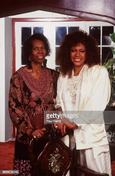 Mary Wilson of the Supremes and her mother photographed at a hotel in Los Angeles California April 12 1985