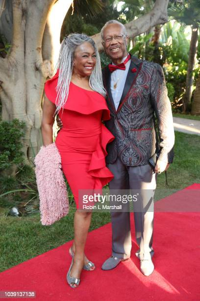 Mary Wilson of 'The Supremes' and husband attend the 29th Annual Heroes And Legends Awards at Beverly Hills Hotel on September 23 2018 in Beverly...