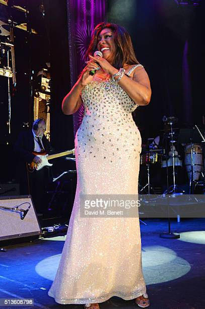 Mary Wilson performs at 'A Night Of Motown' for Save The Children UK at The Roundhouse on March 3 2016 in London England