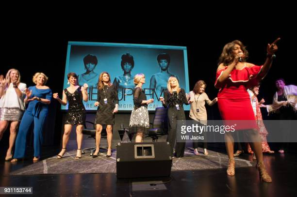 Mary Wilson performs at GRAMMY Museum Mississippi while audience members join her on March 9 2018 in Cleveland Mississippi
