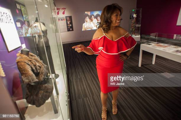 Mary Wilson visits the Supremes exhibit at GRAMMY Museum Mississippi on March 9 2018 in Cleveland Mississippi
