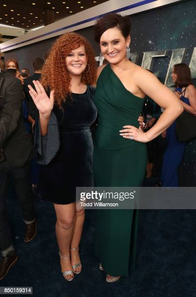 Mary Wiseman and Mary Chieffo attend the premiere of CBS's 'Star Trek Discovery' at The Cinerama Dome on September 19 2017 in Los Angeles California