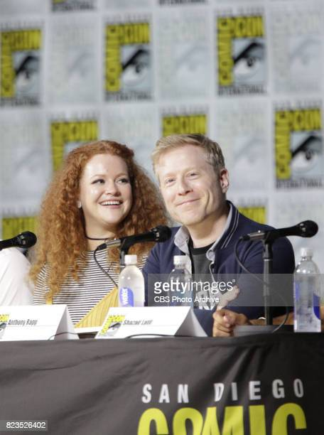 Mary Wiseman Anthony Rapp during the 'Star Trek Discovery' panel at ComicCon 2017 held in San Diego Ca