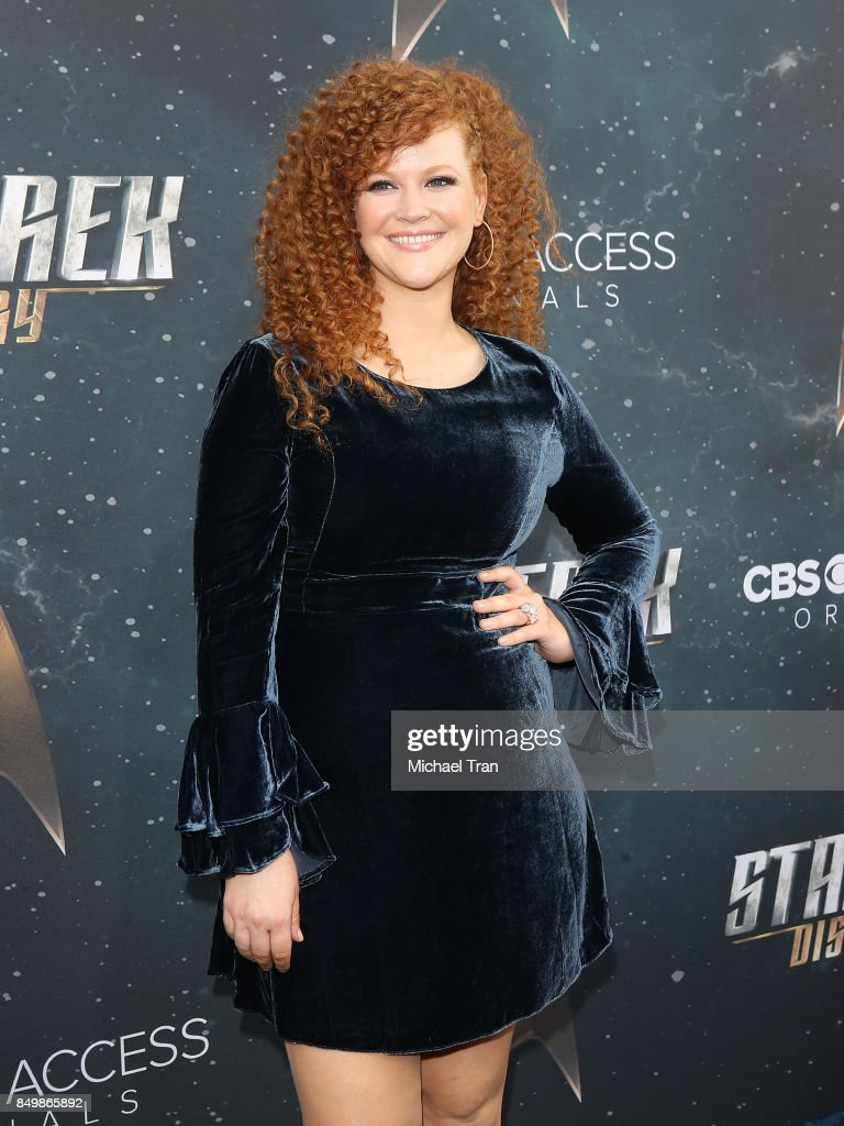 Mary Wiseman attends the Los Angeles premiere of CBS's 'Star Trek: Discovery' held at The Cinerama Dome on September 19, 2017 in Los Angeles, California.