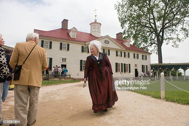 Mary Wiseman is the full time person playing Martha Washington at Mount Vernon Martha Washington walks in front of the mansion StaffPhoto imported to...