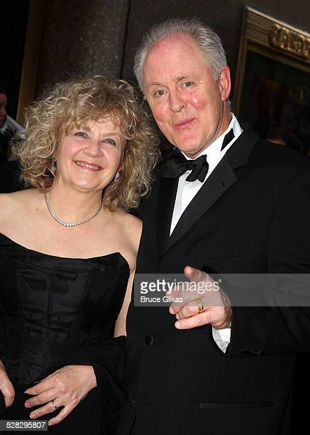 Mary Yeager and actor John Lithgow attend the 62nd Annual Tony Awards on June 15 2008 at Radio City Music Hall in New York City