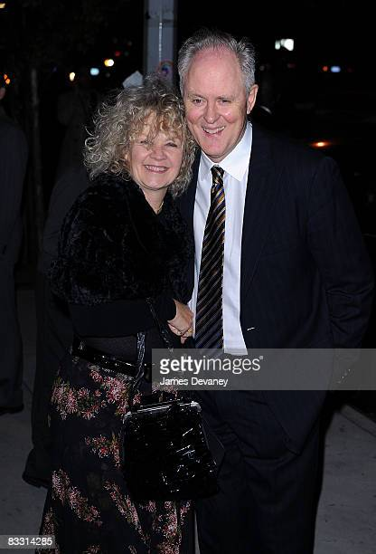 Mary Yeager and Actor John Lithgow attend the All My Sons Broadway opening after party at Atelier on October 16 2008 in New York City