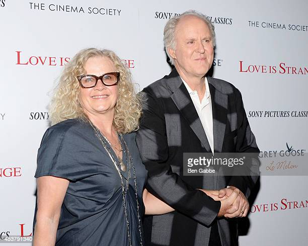 Mary Yeager and actor John Lithgow attend the Sony Pictures Classics With The Cinema Society Grey Goose screening of Love Is Strange at Tribeca Grand...