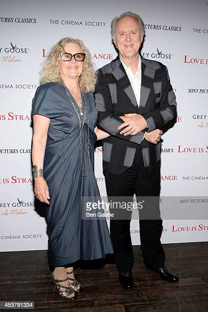 Mary Yeager and ctor John Lithgow attend the Sony Pictures Classics With The Cinema Society Grey Goose screening of Love Is Strange at Tribeca Grand...