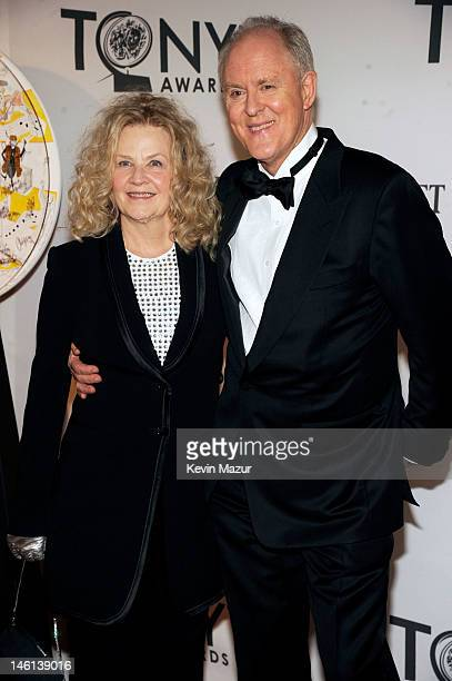 Mary Yeager and John Lithgow attend the 66th Annual Tony Awards at The Beacon Theatre on June 10 2012 in New York City