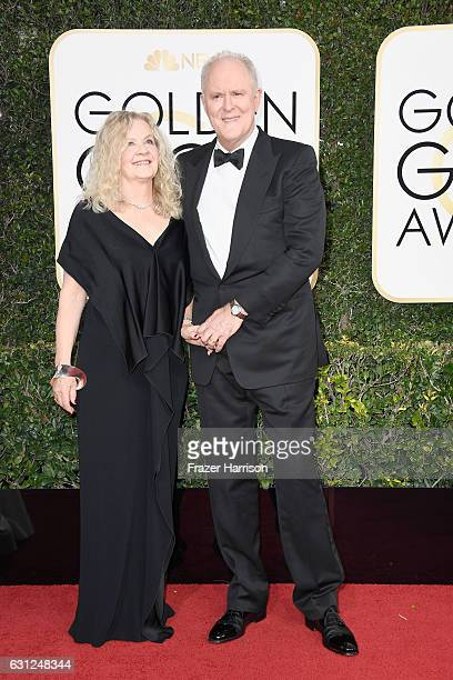 Mary Yeager Lithgow and actor John Lithgow attend the 74th Annual Golden Globe Awards at The Beverly Hilton Hotel on January 8 2017 in Beverly Hills...