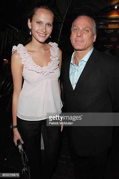Maryam Abdullina and Mark Baker attend JADE JAGGER unveils the BELVEDERE JAGGER DAGGER at Angel Orenzanz NYC on April 16 2008 in New York City
