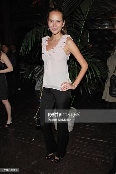 Maryam Abdullina attends JADE JAGGER unveils the BELVEDERE JAGGER DAGGER at Angel Orenzanz NYC on April 16 2008 in New York City