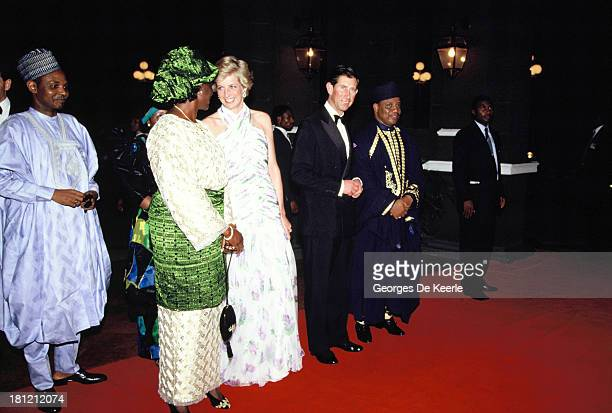 Maryam Babangida former Nigerian First Lady Diana Princess of Whales Charles Prince of Wales and the former Nigerian president Ibrahim Babangida...
