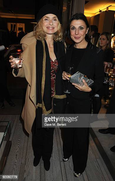 Maryam D'Abo and Allegra Donn attend the A Princess To Be A Queen party in aid of Clic Sargent at Roger Vivier on October 20 2009 in London England