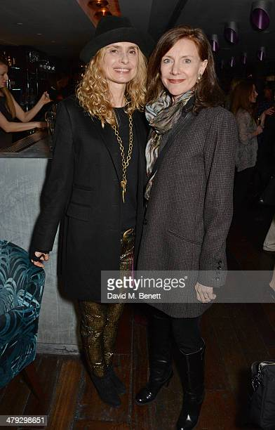 Maryam d'Abo and Belinda Lang attend an after party celebrating the Once The Musical Oxfam Gala at Paramount on March 17 2014 in London England