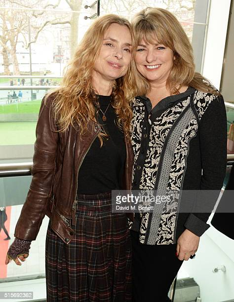 Maryam D'Abo and Carole Ashby attend the 2016 Into Film Awards at Odeon Leicester Square on March 15 2016 in London England