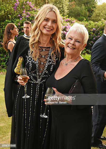 Maryam D'Abo and Dame Judi Dench attend the Duke of Edinburgh Award 60th Anniversary Diamonds are Forever Gala at Stoke Park on June 9 2016 in...