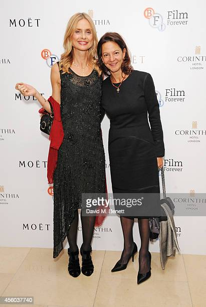 Maryam d'Abo and Gabrielle Tana arrive at the Al Pacino BFI Fellowship Dinner supported by Moet Chandon at the Corinthia Hotel London on September 24...