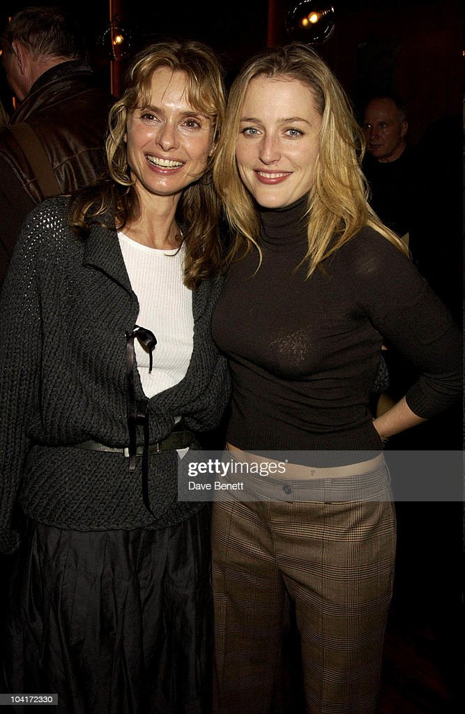 Maryam D'Abo And Gillian Anderson, Bond Girls Are Forever Book Launch At Osla Restaurant, In Haymarket, London