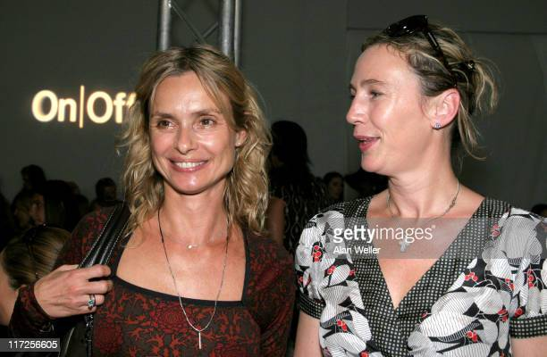 Maryam d'Abo and guest during London Fashion Week Spring/Summer 2007 Allegra Hicks Runway and Backstage at On/Off Royal Horticultural Hall in London...