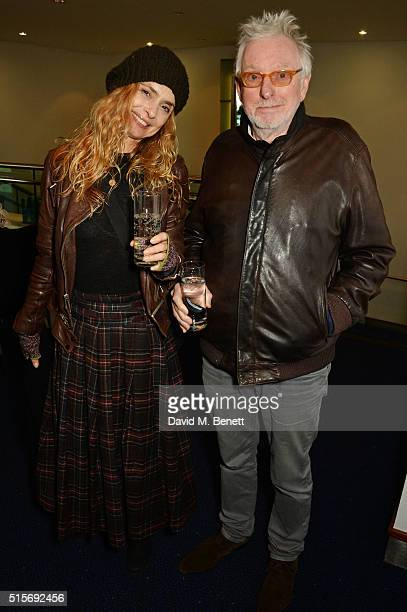 Maryam d'Abo and Hugh Hudson attend the 2016 Into Film Awards at Odeon Leicester Square on March 15 2016 in London England