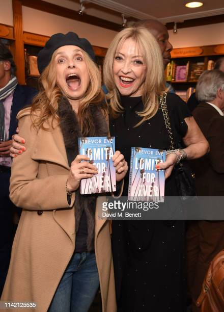 Maryam d'Abo and Sharon Maughan attend the launch of new book Lomita For Ever by Trevor Eve at Hatchards on May 7 2019 in London England