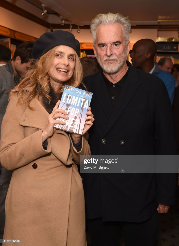 Maryam d'Abo and Trevor Eve attend the launch of new book