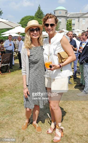 Maryam d'Abo and Yasmin Le Bon attend the Cartier Style Luxury Lunch at the Goodwood Festival of Speed on July 14 2013 in Chichester England