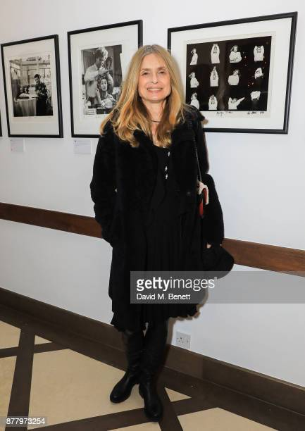 Maryam d'Abo attends a private view of Koo Stark's exhibition 'Kintsugi Portraits' at Galleria San Lorenzo on November 23 2017 in London England