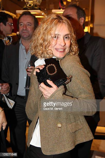Maryam d'Abo attends the Just A Drop Charity Party hosted by Marie Helvin at the Roger Vivier Store on September 15 2011 in LondonEngland