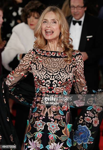 Maryam d'Abo attends the Royal Film Performance of 'Spectre'at Royal Albert Hall on October 26 2015 in London England