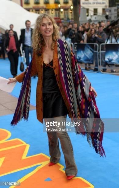 Maryam D'Abo during Hitchhiker's Guide to the Galaxy London Premiere Outside Arrivals at Empire Leicester Square in London Great Britain