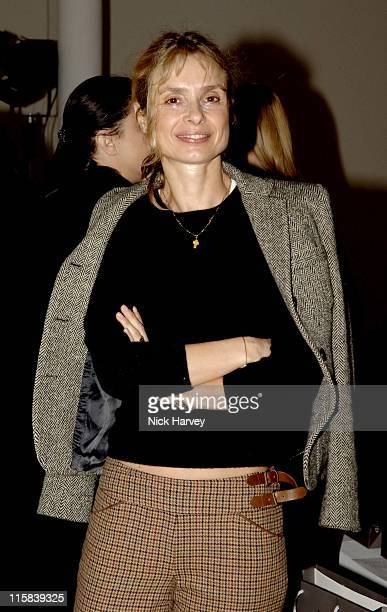 Maryam d'Abo during London Fashion Week Autumn/Winter 2006 Allegra Hicks Runway at Royal Academy of Arts in London Great Britain