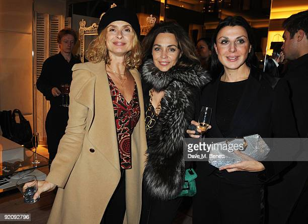 Maryam D'Abo Jeanne Marine and Allegra Donn attend the A Princess To Be A Queen party in aid of Clic Sargent at Roger Vivier on October 20 2009 in...