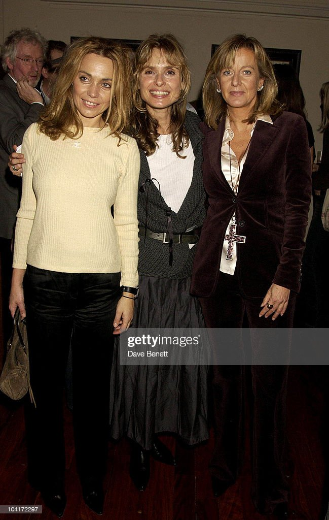 Maryam D'Abo With Jeanne Marine And Marie Chantel Of Hanover, Bond Girls Are Forever Book Launch At Osla Restaurant, In Haymarket, London