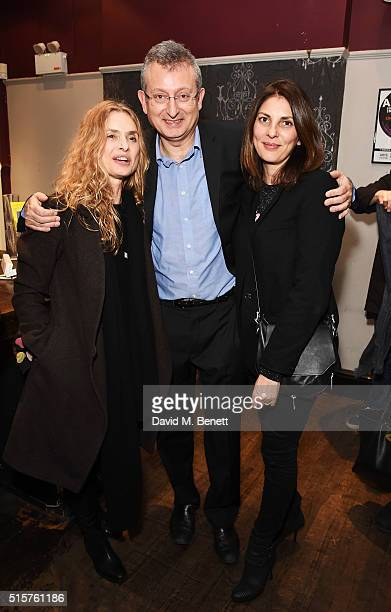 Maryam d'Abo Writer and Director Gary Sinyor and Gina Bellman attend the press night performance of Not Moses at The Arts Theatre on March 15 2016 in...