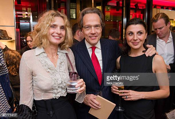 Maryam D'Arbo the Earl of March and Allegra Donn attend the launch reception of The Italian Touch on November 4 2009 in London England