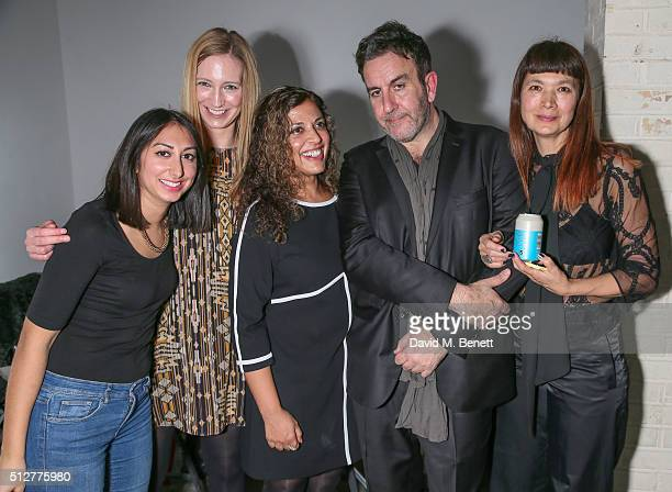 Maryam Khan Dr Stefanie Wittman Ruby Siddiqui Terry Hall and Deborah Rigby attend the Medecins Sans Frontieres art and music fundraising event on...