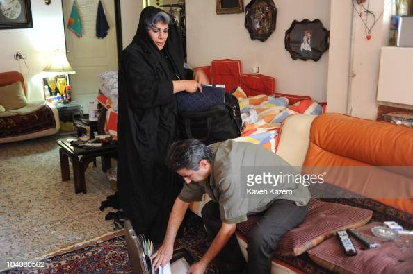 Maryam Khatoon Molkara Photographed At Her Home With Husband News Photo - Getty Images-8074