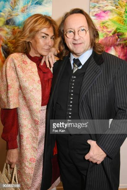Maryam Mahdavi and Bill Pallot attend Eugenia Grandchamp des Raux Photo Exhibition Preview at MEP on January 16 2018 in Paris France
