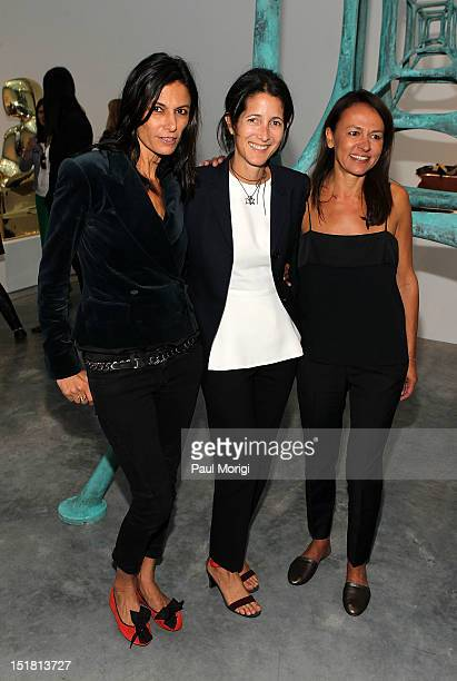 Maryam Malakpour Amanda Ross and Marjan Malakpour attend the NewbarK presentation during Spring 2013 MercedesBenz Fashion Week at Paul Kasmin Gallery...