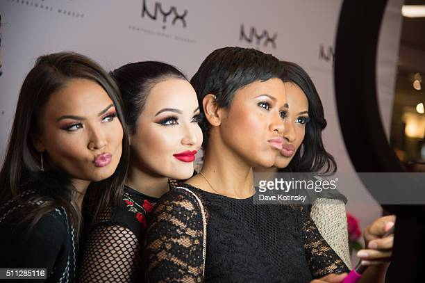 Maryam Maquillage Amanda Ensing Shameless Maya and Kennedy Knight attend the NYX Professional Makeup Store Willowbrook Grand Opening Ribbon Cutting...