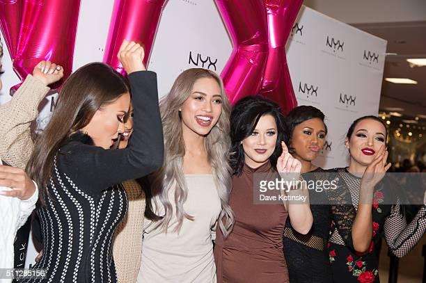 Maryam Maquillage CiaooBelllaxo Amy Pham Amanda Ensing and Shameless Maya attend the NYX Professional Makeup Store Willowbrook Grand Opening Ribbon...