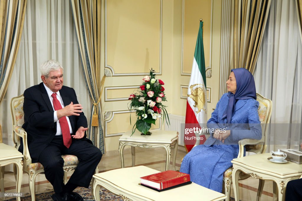 Former Speaker of the U.S. meets the Iranian opposition leader