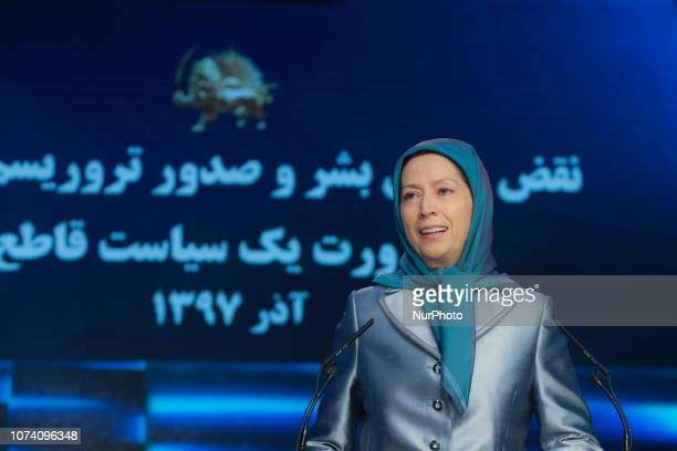 Maryam Rajavi in Durres Albania on 23 November 2018 At a global conference of Iranian communities on December 15 2018 speakers connected via a...