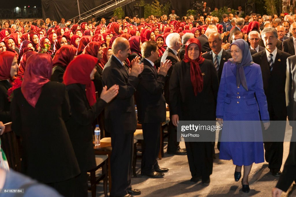 Iranian opposition tribute to the anniversary of massacre of Camp Ashraf : News Photo